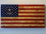 Army Rustic Wood American Flag